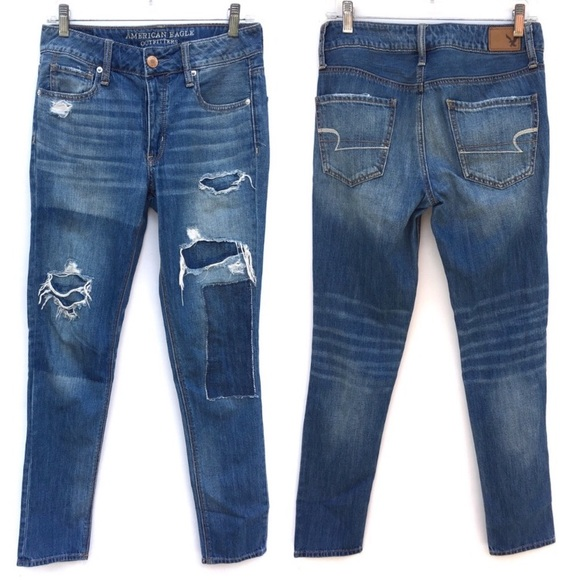 861b4fedfde American Eagle Outfitters Jeans | Aeo Distressed Ripped Patches ...